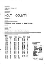 Title Page - Index, Holt County 1948
